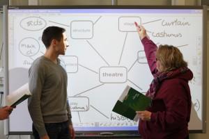 Unterricht am Smartboard