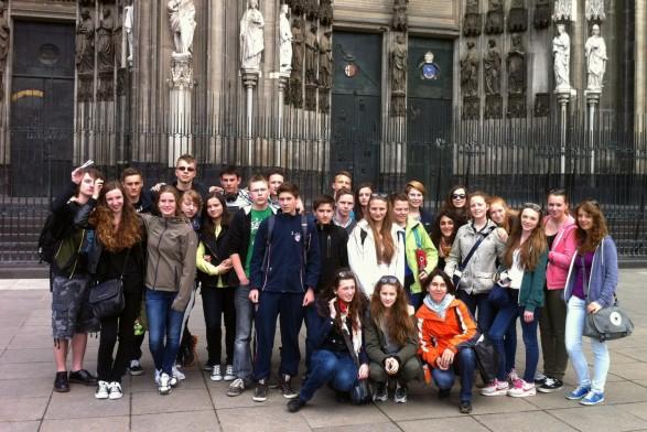 Polenaustausch Gruppe Köln Dom