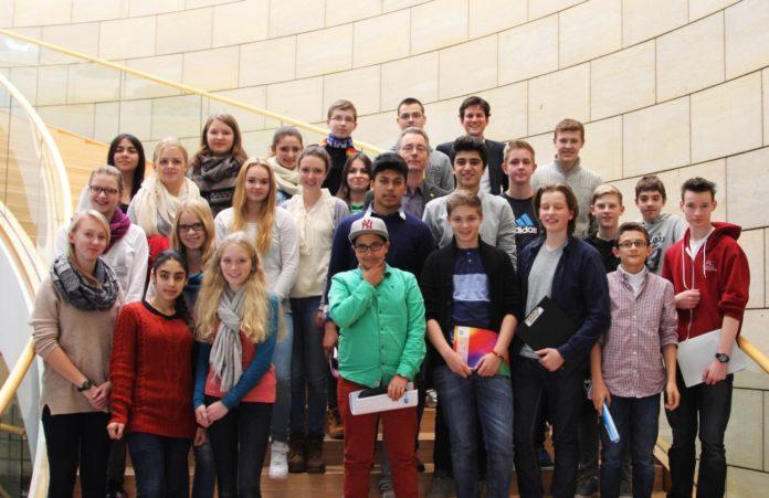 Landtagbesuch Klasse 9d MCG